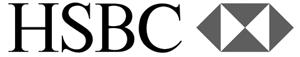 HSBC black and white logo