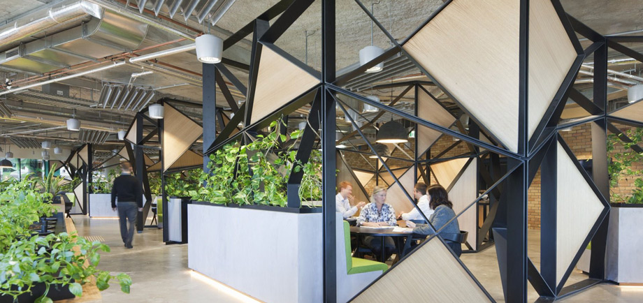 office with greenery