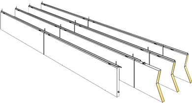 diagram of acoustic baffles