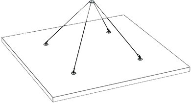diagram of hanging acoustic panels