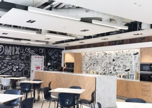 acoustic panels in Heinz office cafe