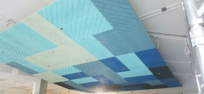 BAUX acoustic tiles in Plymouth University lecture hall