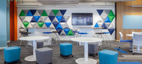 3D acoustic panels in office