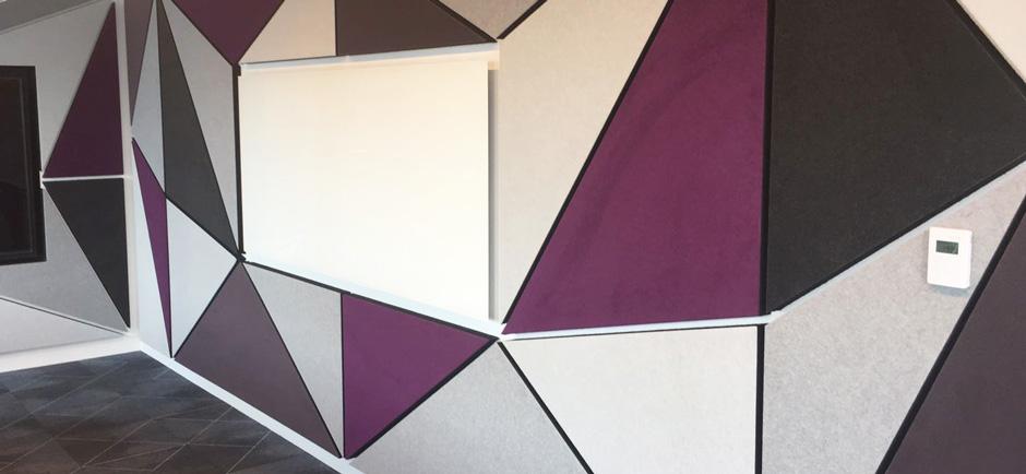Autex cube wall