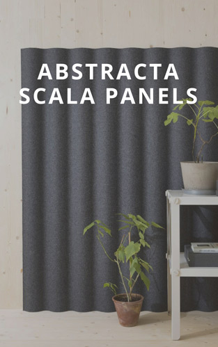 Grey abstracta scala acoustic panels
