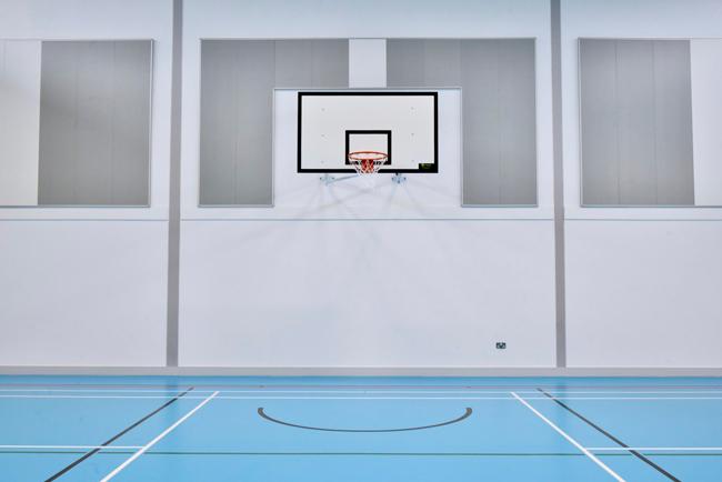 akusto wall panels in sports hall