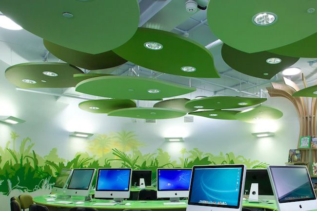 ecophon freedom green acoustic panels