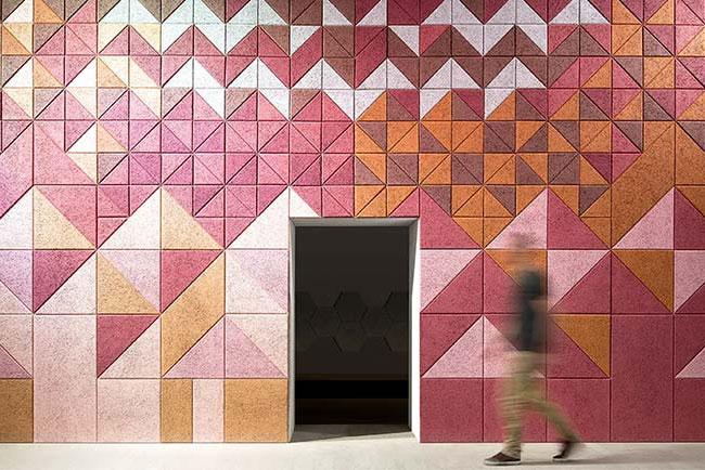 pink baux acoustic tiles