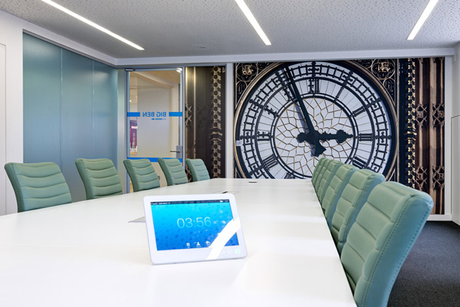 printed acoustic panels in meeting room