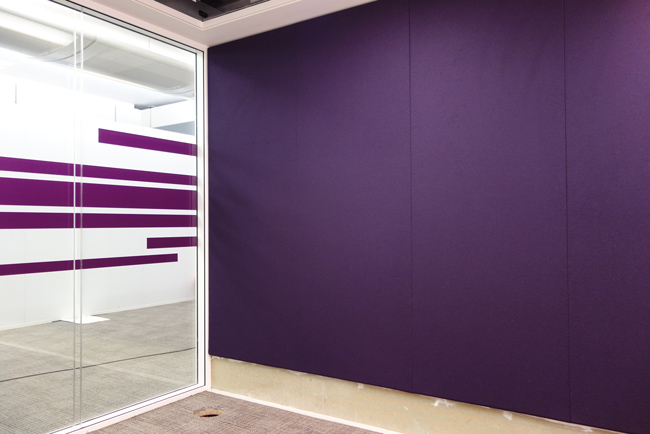 fabricwall panels in office