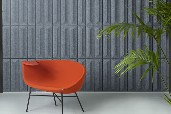 offecct soundwave ceramic grey panels