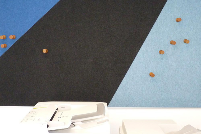 autex composition wall panels in office