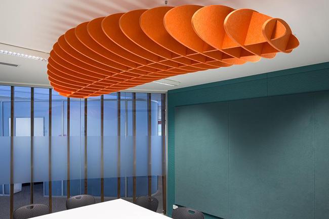 autex quitespace lattice panels in meeting room