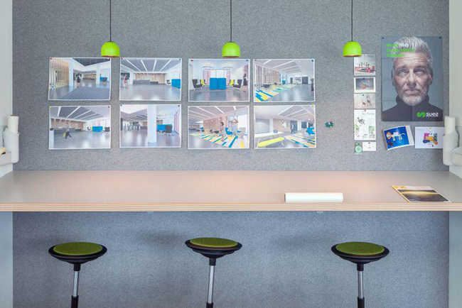 autex quietspace symphony wall panels in office
