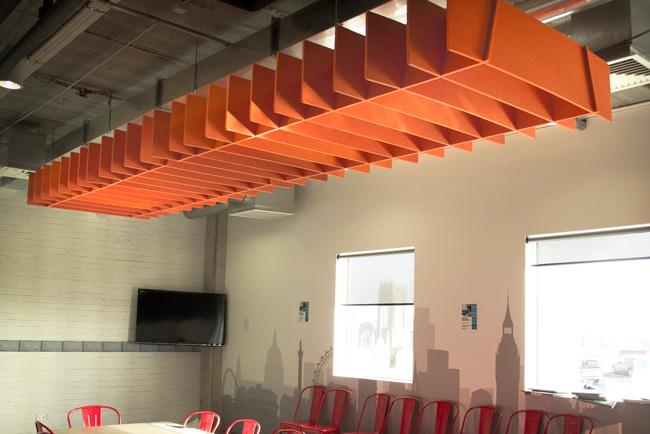 autex lattice panels in meeting room