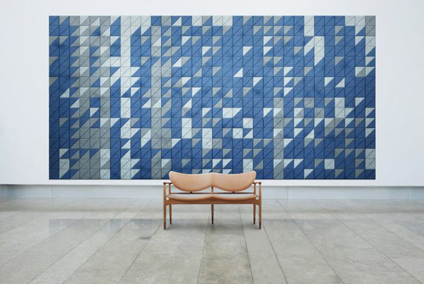 baux acoustic tiles in art gallery