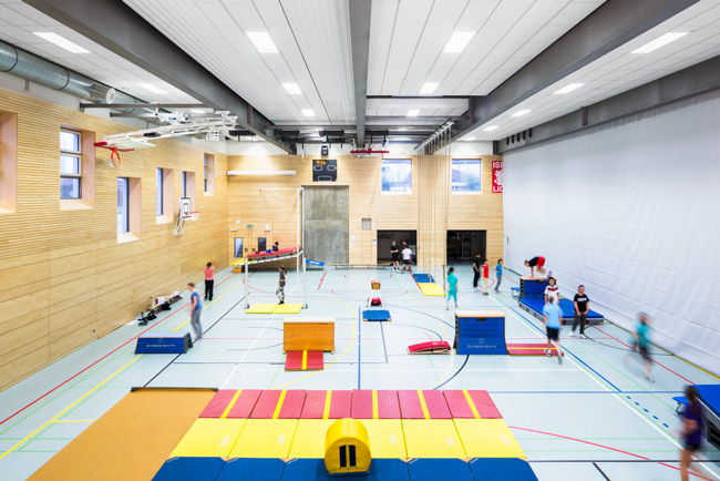 Ecophon super g panels in sports hall