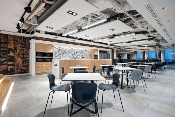 acoustic treatment in modern office