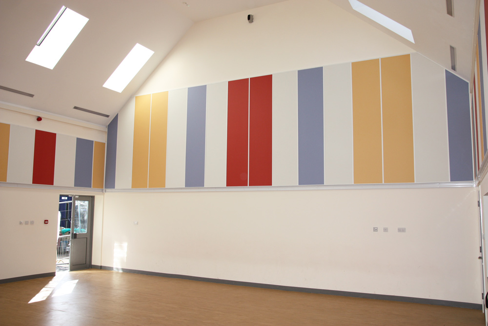acoustic wall panels in sports hall