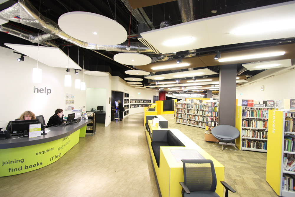 acoustic rafts in community library