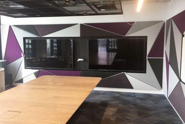 autex panels in meeting room
