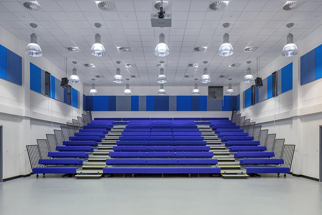 autex acoustic panels in lecture hall
