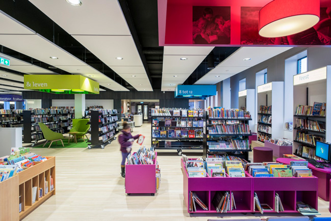 childrens library with acoustic panels