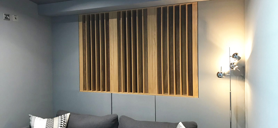 fabric wall acoustic panels in recording studio