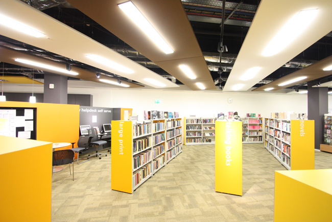 southsea library with acoustic panels