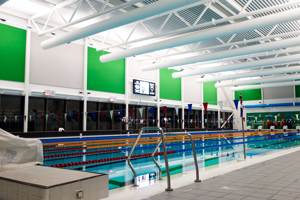 acoustic panels in swimming pool