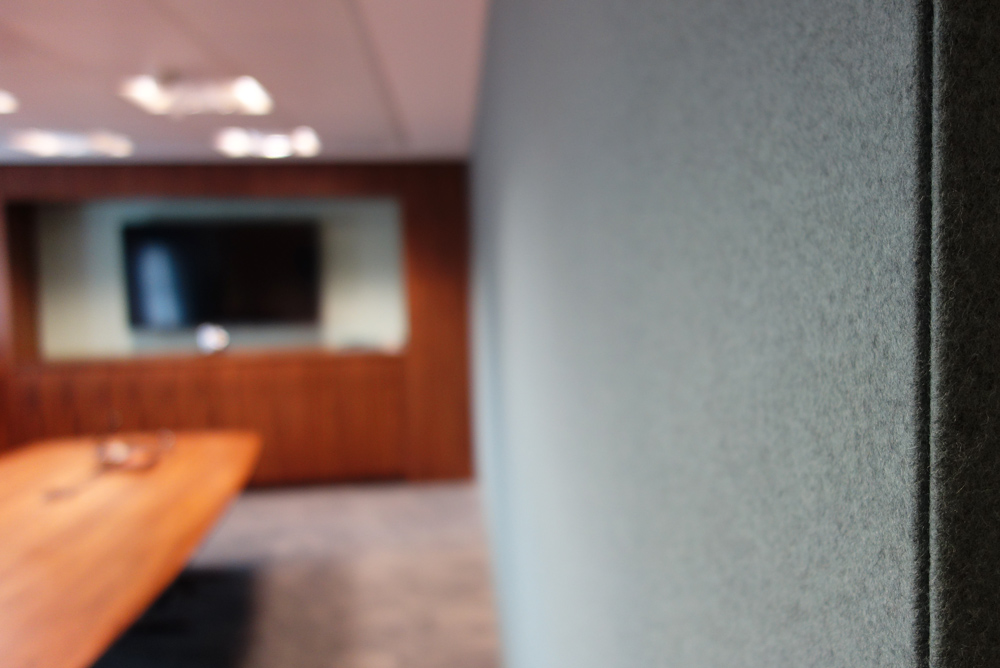acoustic panels in meeting room