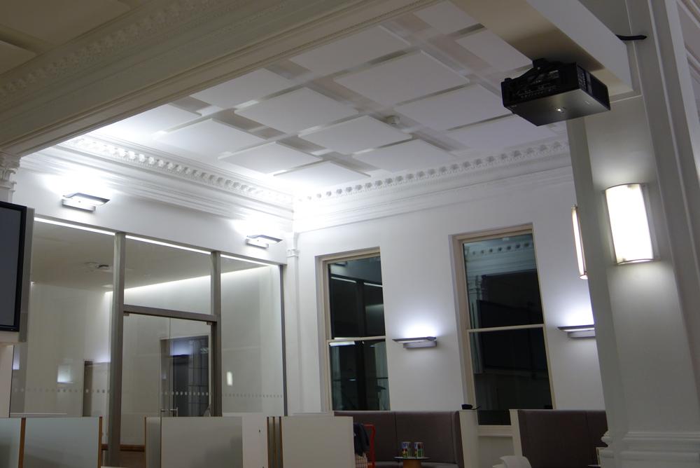 acoustic panels in DFID building