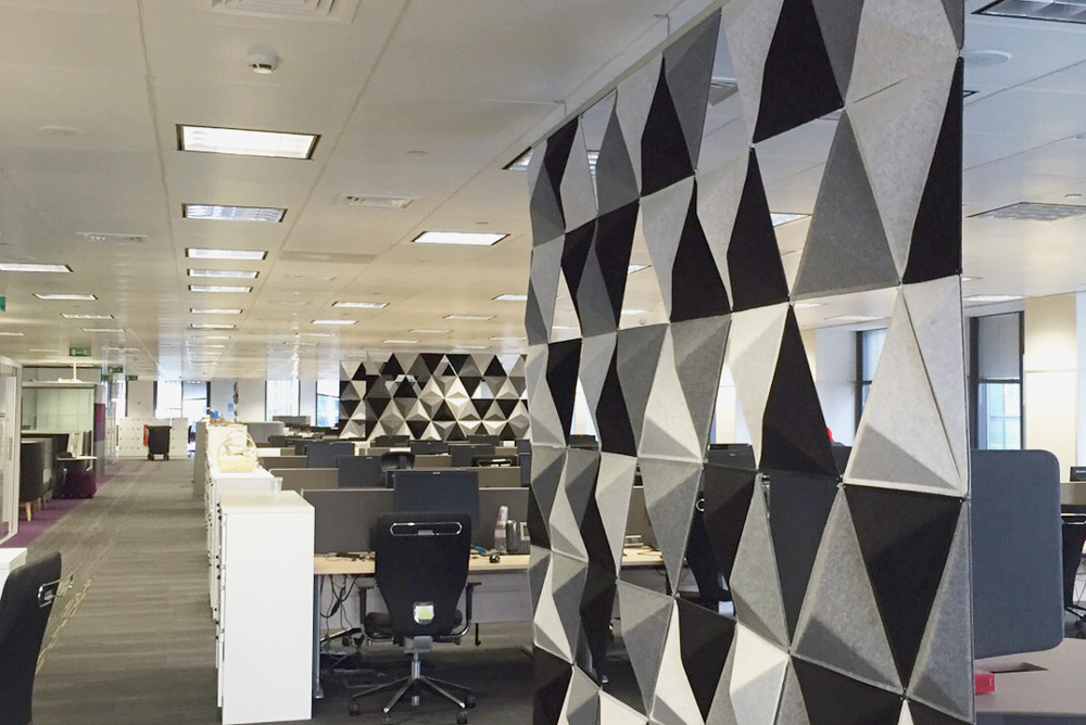 acoustic dividers in office