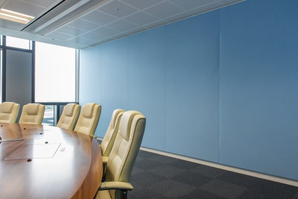 acoustic fabric wall in cinema and conference room