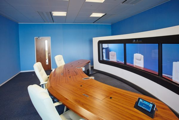 acoustic fabric wall in meeting room