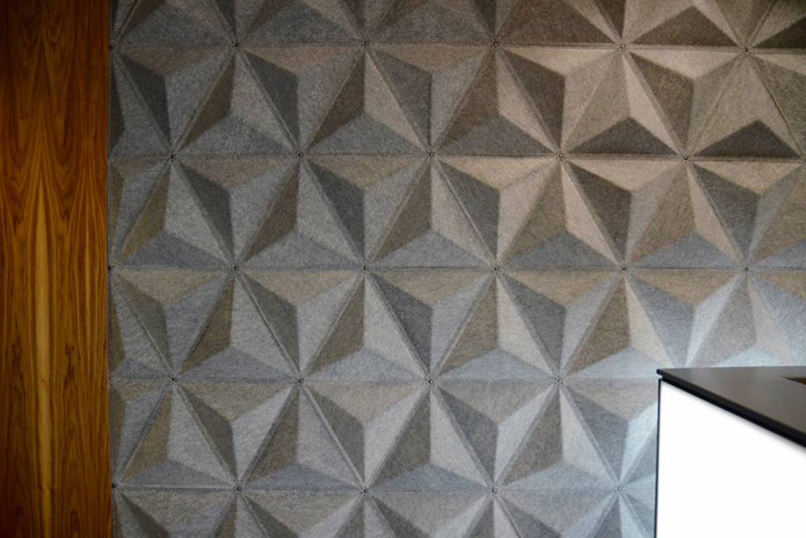 abstracta acoustic panels in bank lobby