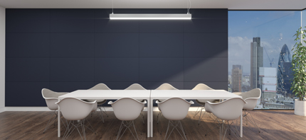 fabricwall acoustic panels in meeting room