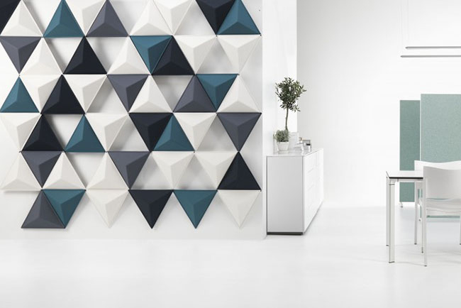 blue and white abstracta aircone panels