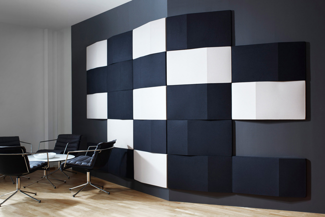abstracta triline blue and white wall panels