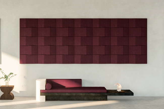 abstracta triline acoustic panels in lobby