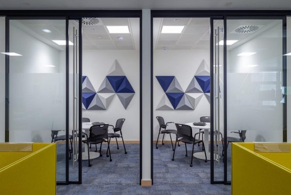 autex acoustic wall panels in meeting room