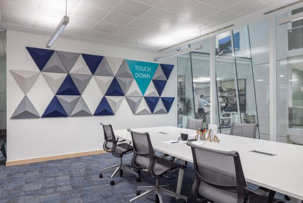 acoustic wall panels in meeting room