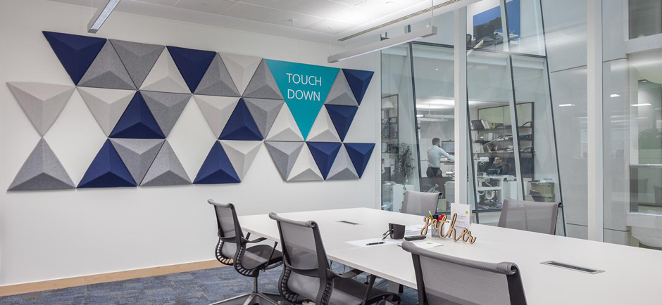 acoustic panels in London law firm office