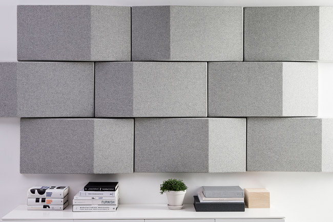 abstracta triline grey wall panels