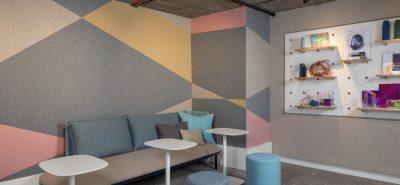 FabricWall in Camira showroom
