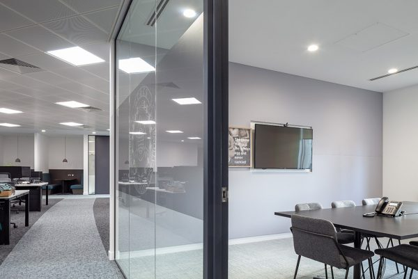 acoustic panels in meeting room