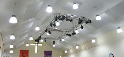 acoustic panels in church