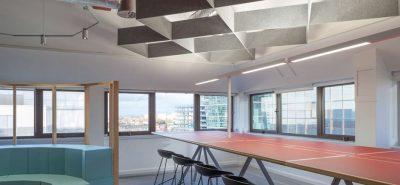 autex cube baffles in open office