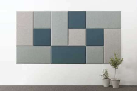 blue abstracta domo wall panels