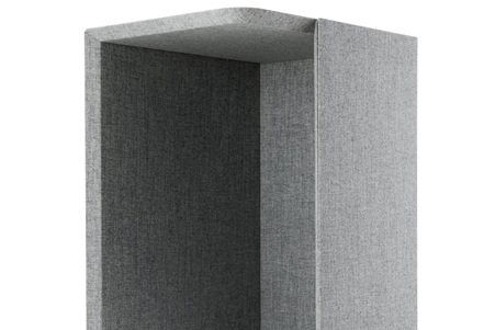Grey acoustic booth